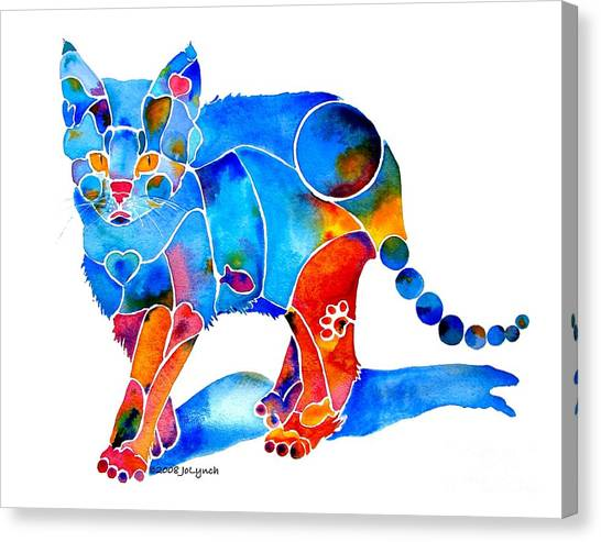 Whimzical Katie Kitten Canvas Print