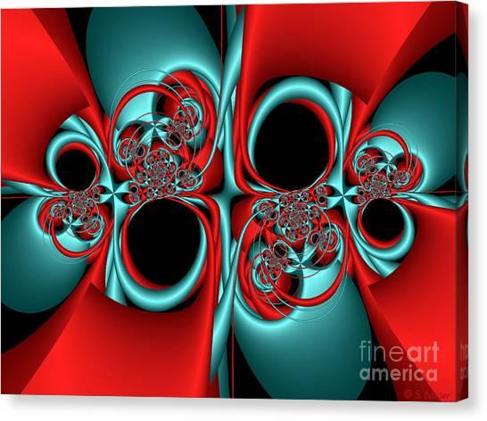 Whirligigs Canvas Print by Sandra Bauser Digital Art