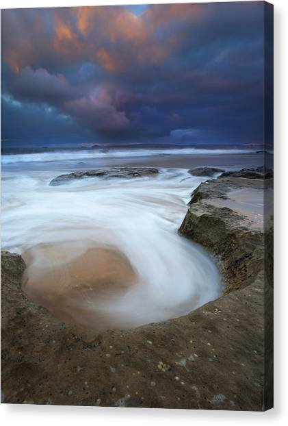 Beach Sunrises Canvas Print - Whirlpool Dawn by Mike  Dawson