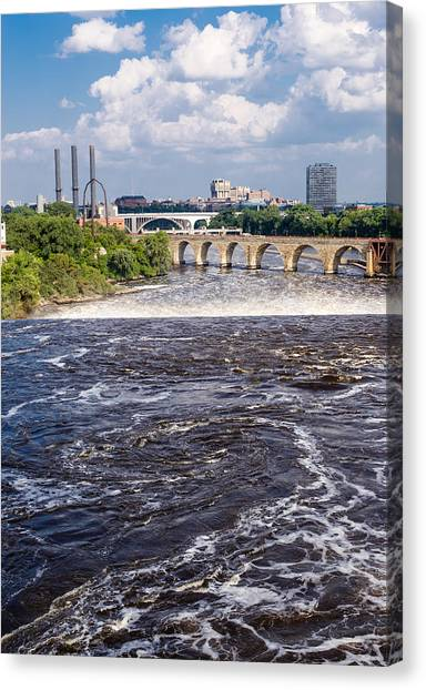 Whirlpool On Mississippi Canvas Print