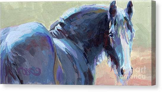 Draft Horses Canvas Print - Whiskery Clyde by Kimberly Santini