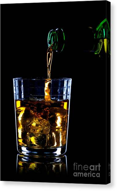 Scotch Canvas Print - Whiskey Being Poured by Richard Thomas