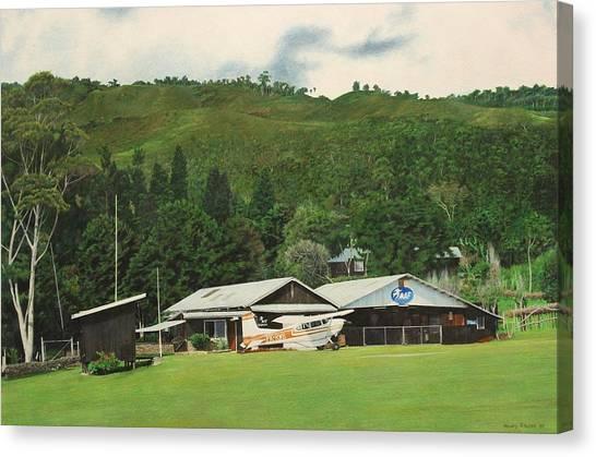 Cessnas Canvas Print - Whiskey Bravo At Bokondini by Henry Balzer