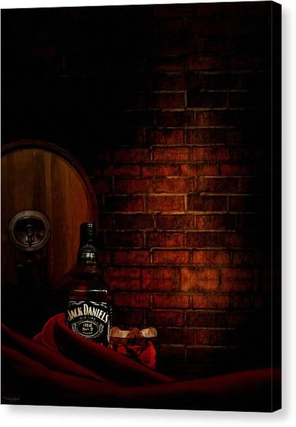 Wine Barrels Canvas Print - Whiskey Fancy by Lourry Legarde
