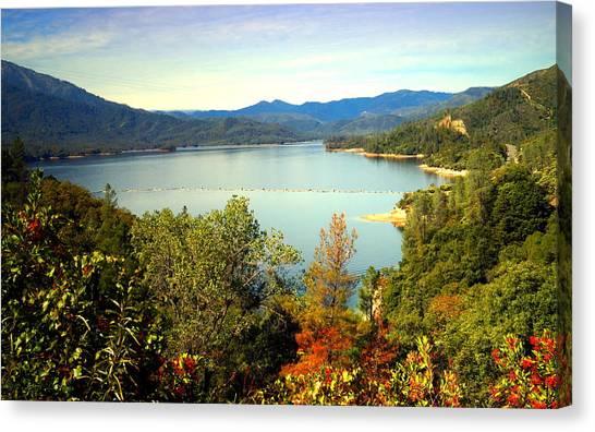 Water Skis Canvas Print - Whiskeytown Lake 1 by Joyce Dickens
