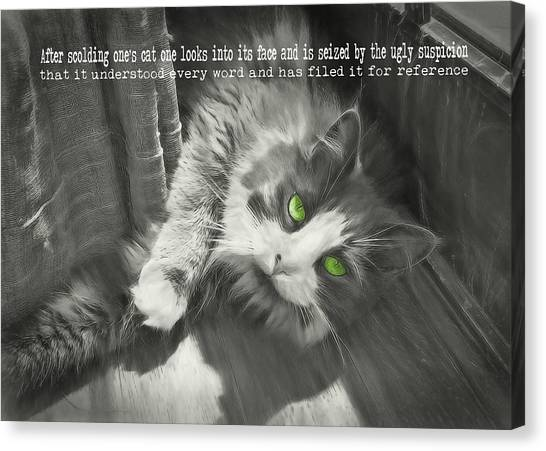 Whisper Quote Canvas Print by JAMART Photography