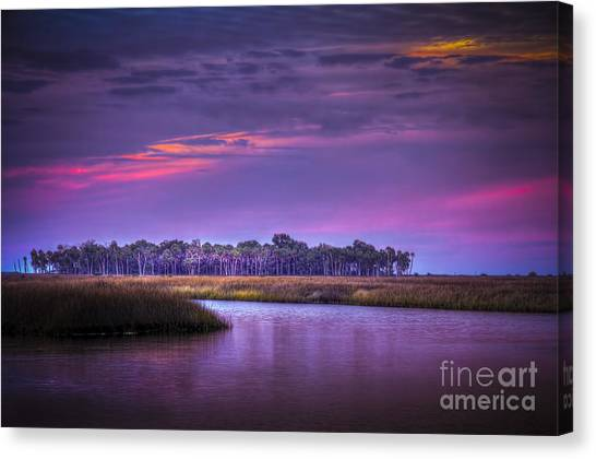 Marsh Grass Canvas Print - Whispering Wind by Marvin Spates