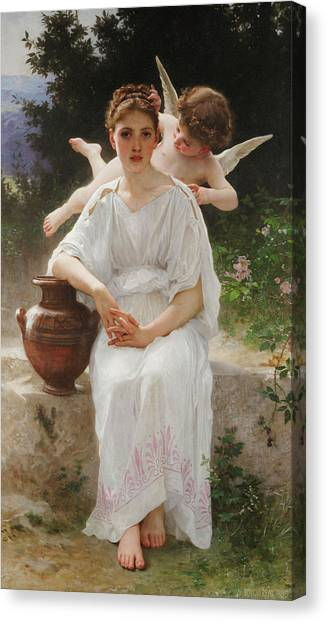 Academic Art Canvas Print - Whisperings Of Love by Adolphe William Bouguereau
