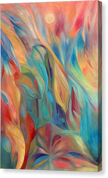 Canvas Print featuring the painting Whispers Of Immortality 1 by Linda Cull