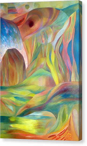 Canvas Print featuring the painting Whispers Of Immortality 2 by Linda Cull