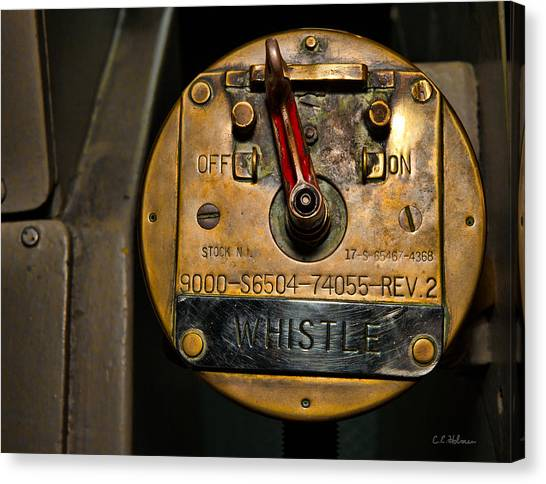 Whistle Switch Canvas Print