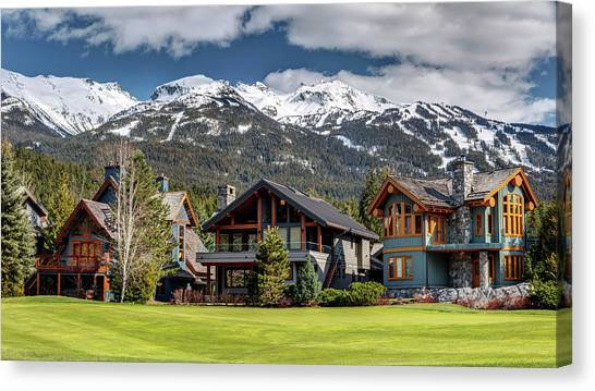 Canvas Print featuring the photograph Whistler Luxury Homes On Nicklaus North  by Pierre Leclerc Photography