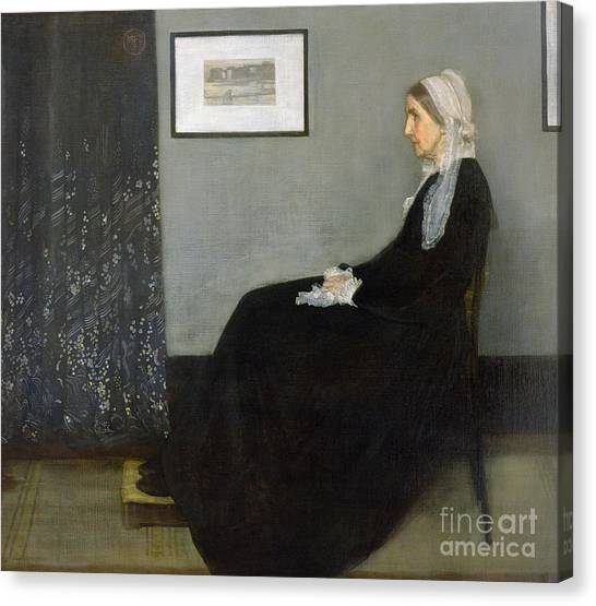 Woman Canvas Print - Whistlers Mother by James Abbott McNeill Whistler