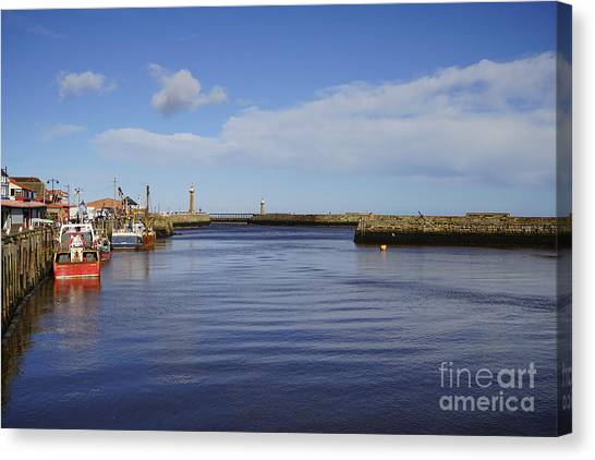 Harbour Canvas Print - Whitby by Smart Aviation