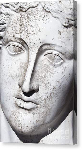 Statue Portrait Canvas Print - White 1 by Elena Nosyreva