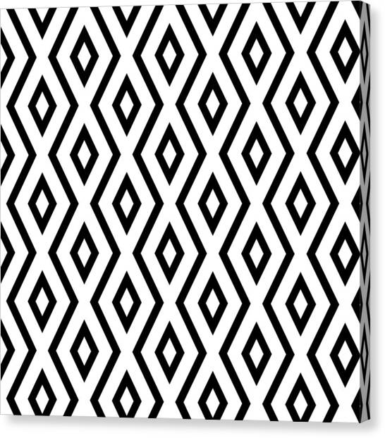 Pattern Canvas Print - White And Black Pattern by Christina Rollo