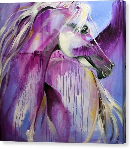 White Arabian Nights Canvas Print