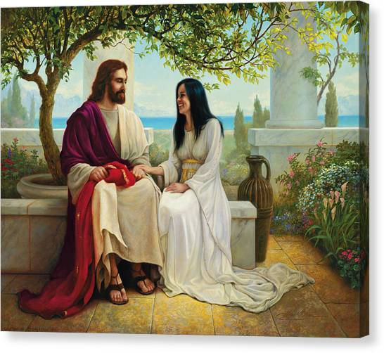 Purple Canvas Print - White As Snow by Greg Olsen