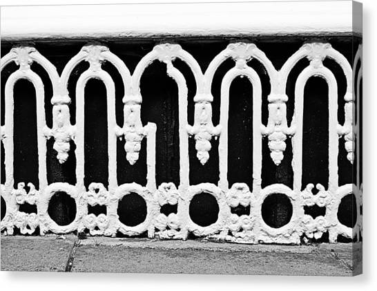 Cellar Canvas Print - White Bars by Tom Gowanlock