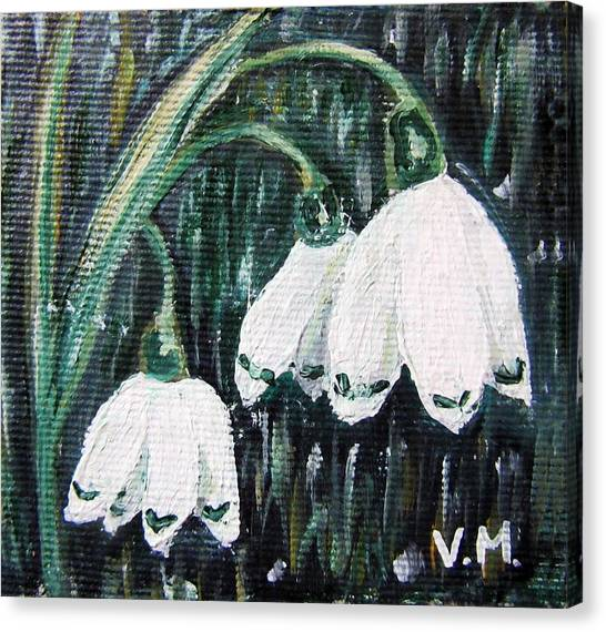 White Bells Canvas Print