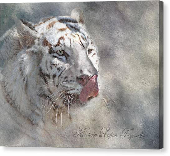 White Bengal Tiger Canvas Print