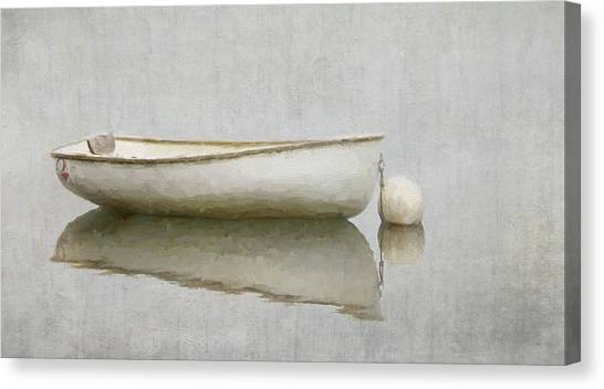 White Boat Canvas Print