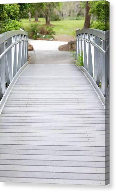 Canvas Print featuring the photograph White Bridge by Raphael Lopez