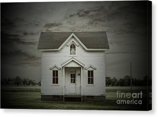 White Clapboard Canvas Print