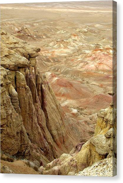 White Cliffs Of Gobi Desert Canvas Print