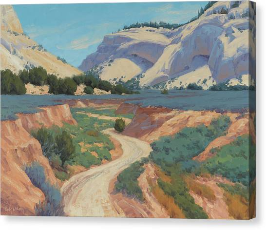 Red Rock Canvas Print - White Cliffs Of Johnson Canyon 18x24 by Cody DeLong