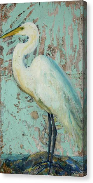 Cranes Canvas Print - White Crane by Billie Colson