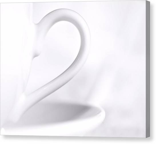 White Cup And Saucer Canvas Print