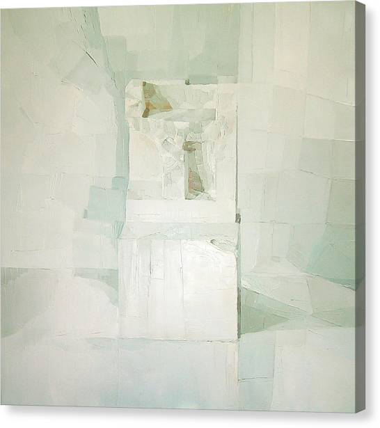 Shapes Canvas Print - White by Daniel Cacouault