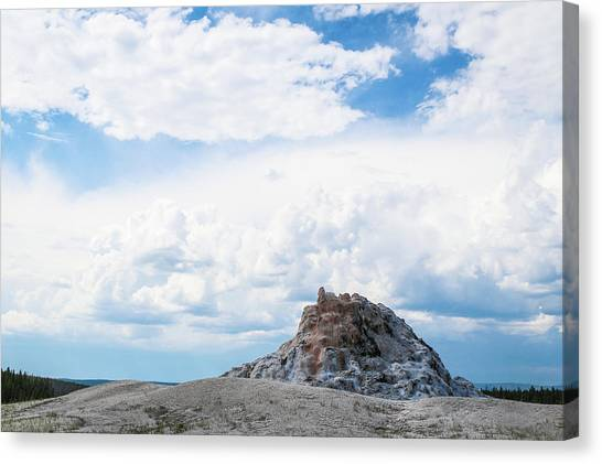 White Dome Geyser Canvas Print