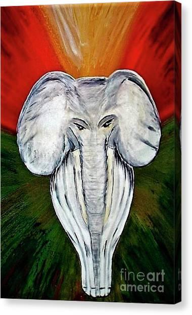 White Elephant Canvas Print