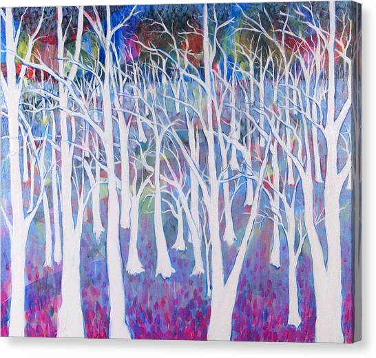 White Forest Canvas Print by Rollin Kocsis