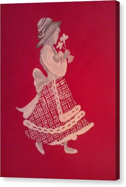 White Girl Canvas Print by Samar Abdelmonem