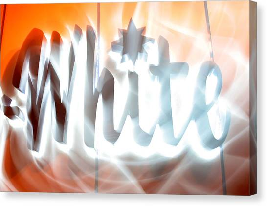 White Hot Canvas Print