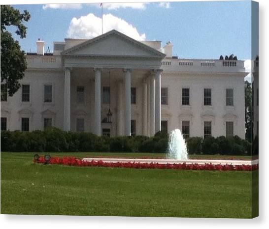 White House Canvas Print - White House by Jessica Cistrelli