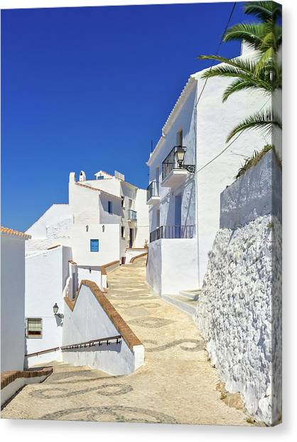 White House Canvas Print - White Houses And Blue Sky Of Andalusia by GoodMood Art