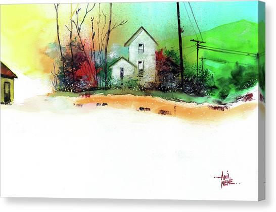 White Houses Canvas Print
