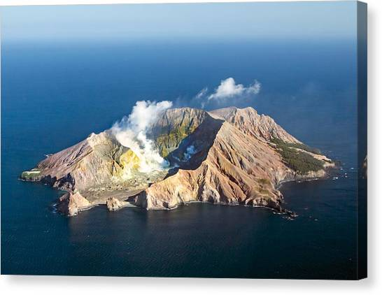 White Island Canvas Print