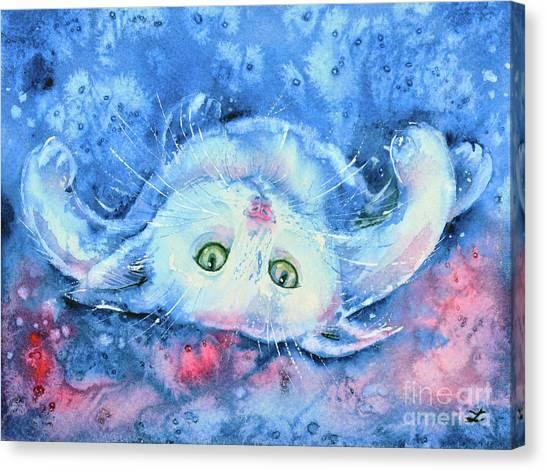 White Kitten  Canvas Print