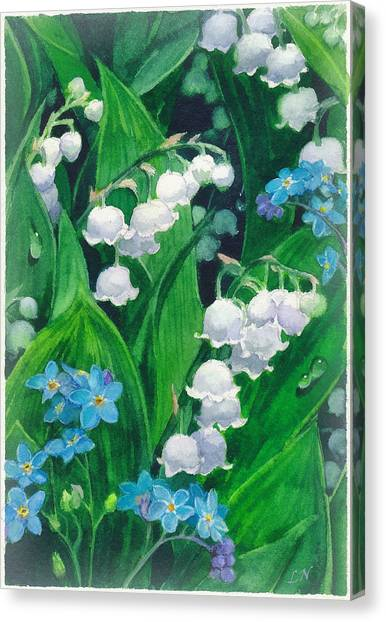 White Lilies Of The Valley Canvas Print