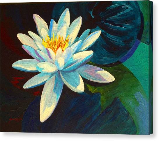 Lilies Canvas Print - White Lily IIi by Marion Rose