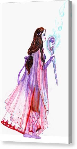 Final Fantasy Canvas Print - White Mage by Rebecca Tripp