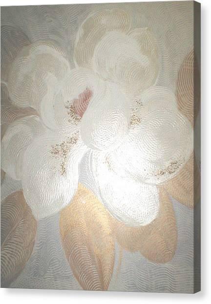 White Magnolia Canvas Print by Marja Koskinen-Talavera