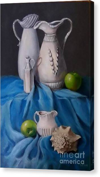 White Menagerie  Canvas Print by Patricia Lang