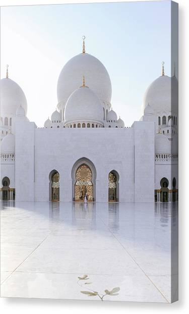 White Mosque Canvas Print