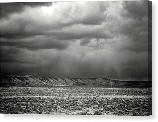 Canvas Print featuring the photograph White Mountain by Lou Novick